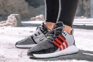 Кроссовки ADIDAS EQT Support Future grey/black/red