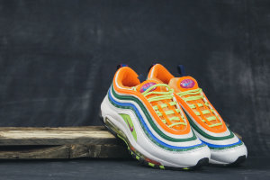 Кроссовки Nike Air Max 97 SE white/green/orange