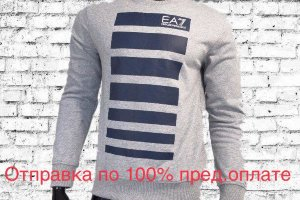 Кофта EA7 grey/blue