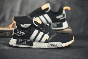 Кроссовки Adidas NMD R1 NMD Black White Orange