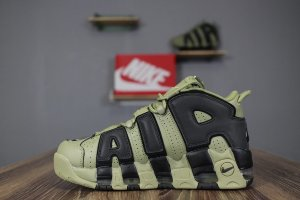 Кроссовки Nike Air More Uptempo black/army green