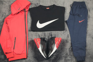 Костюм тройка Nike red/black/blue