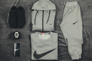 Костюм тройка Nike light gray