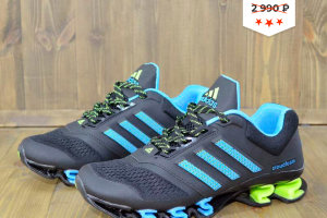 Кроссовки Adidas Cloudfoam black/blue/green