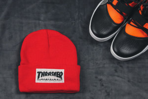 Шапка Thrasher red