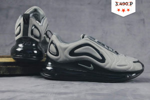 Кроссовки Nike Air Max 720 light gray/black 1