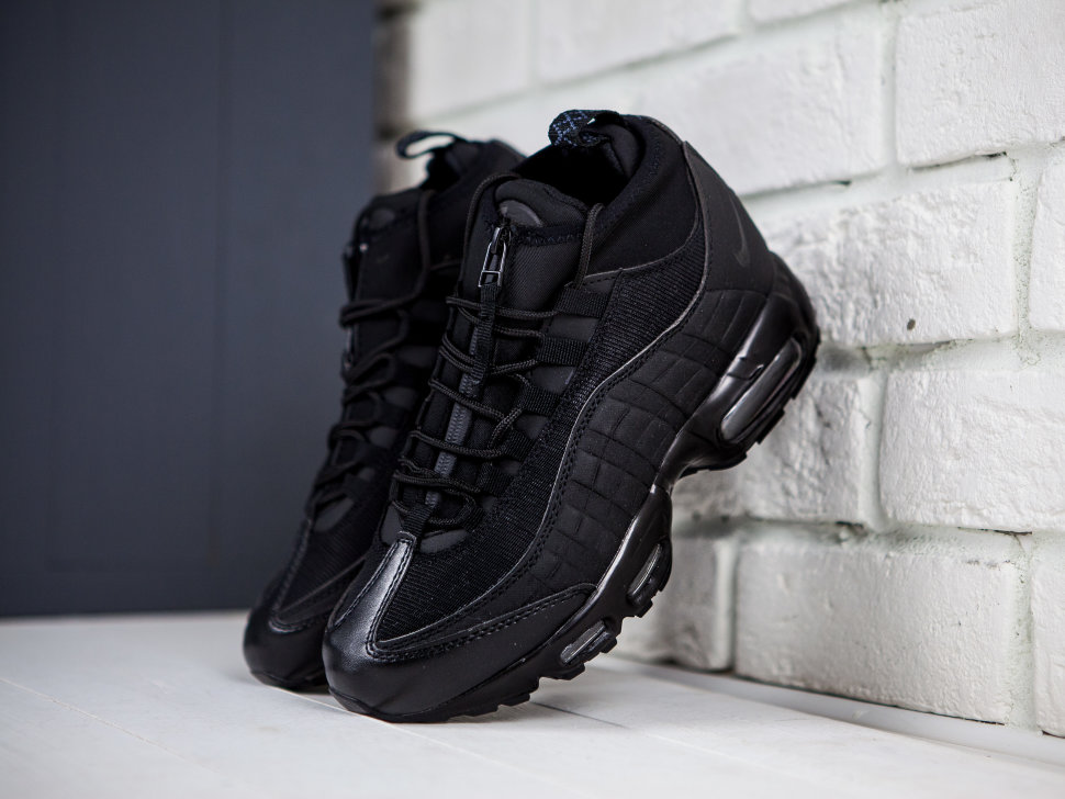 low priced fdacf a8867 Кроссовки Nike Air Max 95 Sneakerboot 'Blackout'
