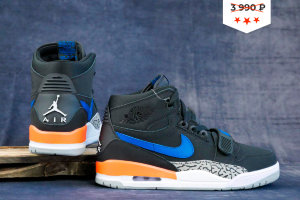 Кроссовки Nike AIR JORDAN LEGACY 312 NRG black/blue/orage