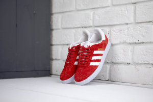 Кеды Adidas Gazelle wmns red\white