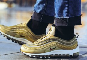Кроссовки Air Max 97 OG QS Gold/white