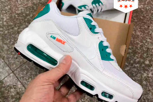 Кроссовки NIKE AIR MAX 90 white/green