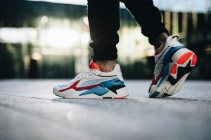 Кроссовки Puma RS-X CORE ivory/blue/orange/black